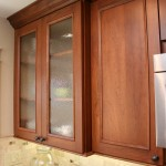 Glass cabinets with custom depth