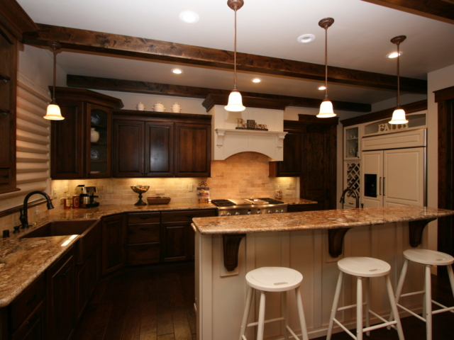 Two Toned in Tahoe - Breakfast counter and kitchen overview