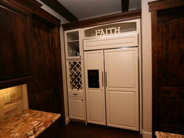 Two Toned in Tahoe - Refrigerator and Storage Cabinets