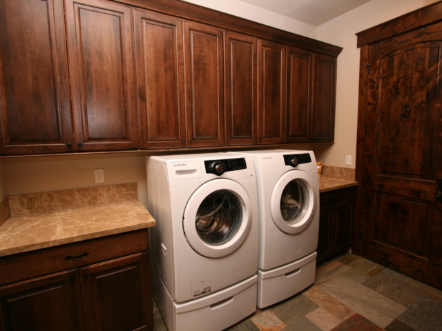 Two Toned in Tahoe - Laundry Room and Cabinets